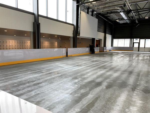 La patinoire est prête.