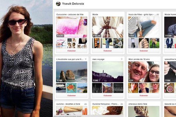 Yseult Delcroix et son profil Pinterest.