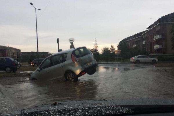 Le quartier des Ramassiers inondé à Colomiers
