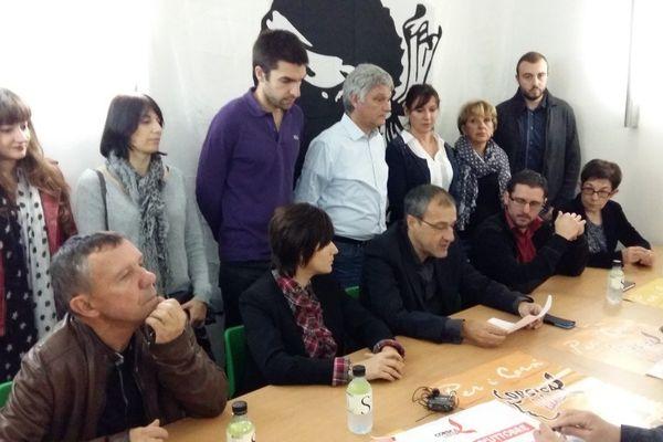 28/10/15 - Conférence de presse de Corsica Libera à l'occasion de la présentation du programme pour les Territoriales en Corse