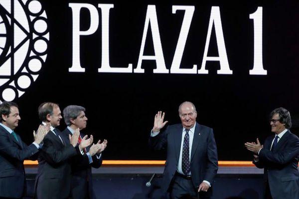 La présentation des cartels de Madrid en présence Juan Carlos.