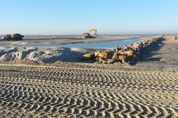 Des travaux d'envergure ont été entrepris à la baie d'Authie pour limiter les risques de submersion marine.