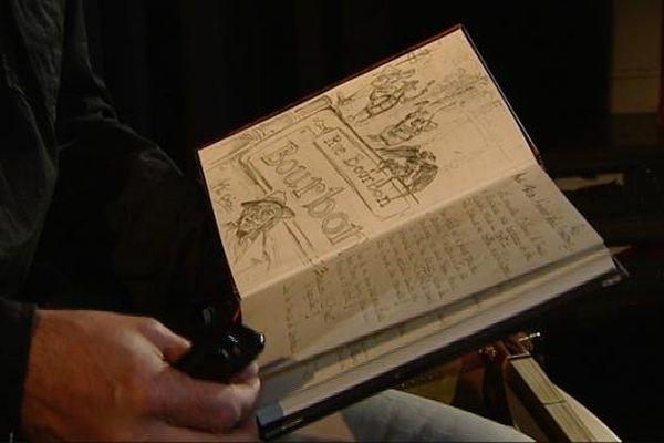 Le conteur Eric Frèrejacques, jeudi 19 septembre 2013 à Vitteaux lors de la 21ème édition du festival Coup de contes.