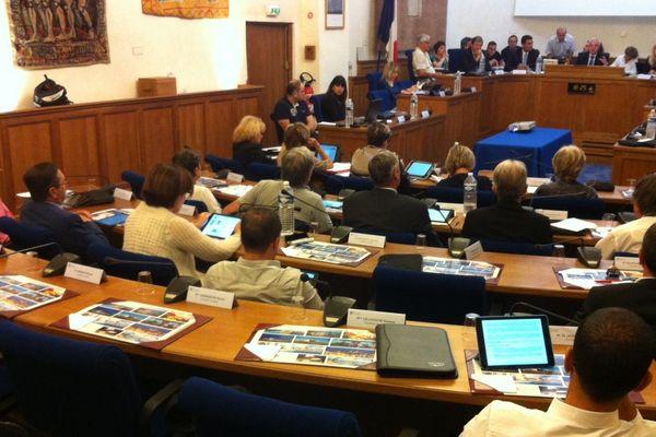 Le conseil municipal d'Antibes cet après-midi