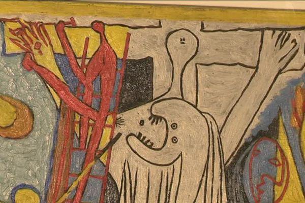 Une toile de Pablo Picasso représentant la Crucifixion du Christ (1930).