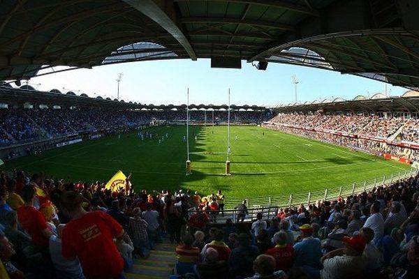 Le stade Aimé GIral de Perpignan - archives