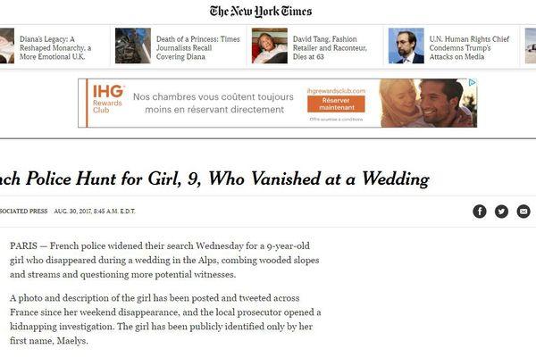 Le journal américain The New York Times
