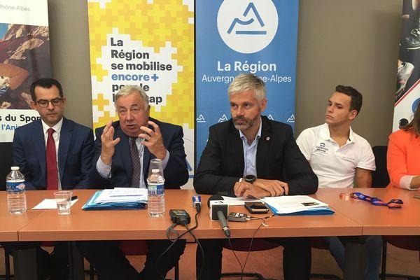 C'est lors d'une conférence de presse du jeudi 19 septembre à Vichy, dans l'Allier, que Laurent Wauquiez, président de la région Auvergne-Rhône-Alpes, a annoncé que Vichy était en lice pour accueillir les Global Games.