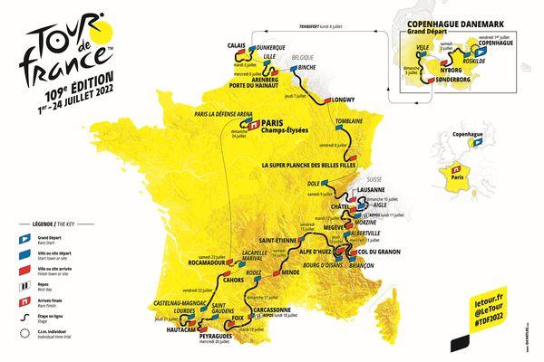 Le parcours officiel du Tour de France 2022 avec une semaine en Occitanie