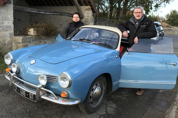 Patricia et François Durin tenteront de mener leur Volkswagen Karmann Ghia de 1967 jusqu'à Monaco.