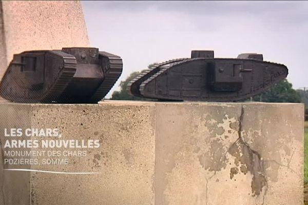 Une miniature sur le monument aux chars de Pozières