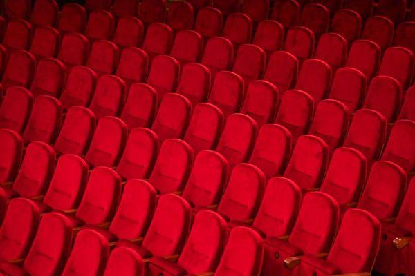 Une salle de théâtre vide, le 19 novembre 2020.