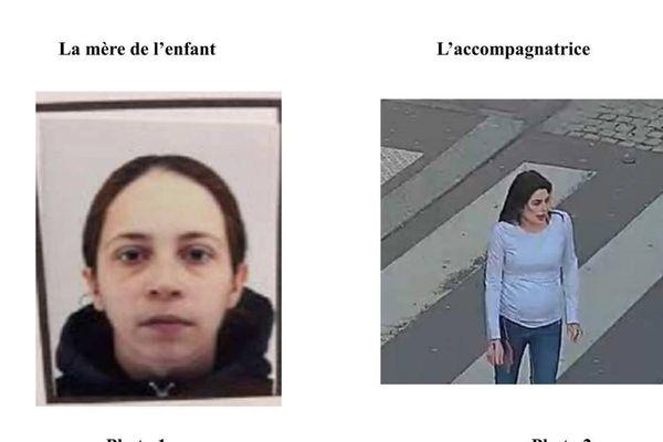 Les deux photos diffusées par la préfecture de police de Paris, jeudi.