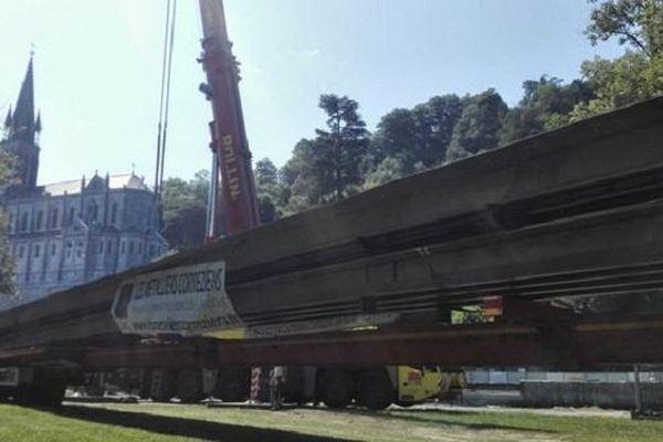 Le pont du sanctuaire du Lourdes est livré