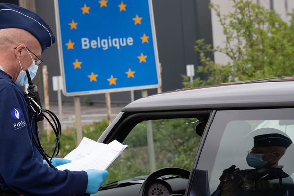 Image d'illustration d'un contrôle à la frontière franco-belge le 19 avril 2020.