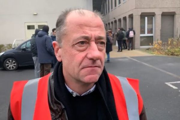 Thomas Rose, secrétaire général de l'union locale CGT Reims.