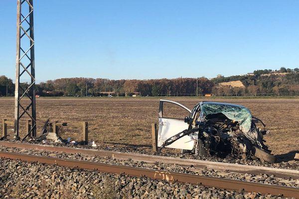 L'accident s'est produit sur un passage à niveau situé sur la commune de Cintegabelle (Haute-Garonne).