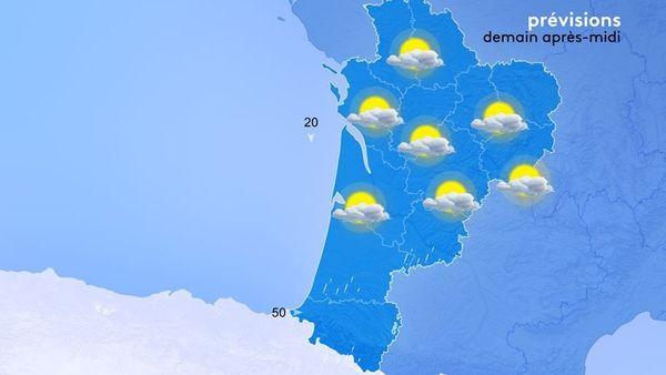 Quelques rayons de soleil seront de retour l'après-midi mais assez inefficaces contre le vent de nord !