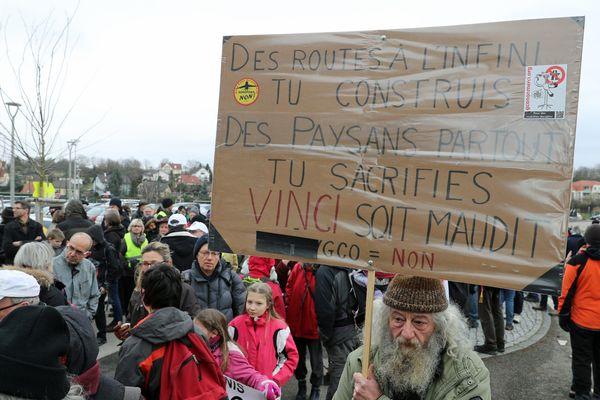 Manifestation contre le GCO en janvier dernier, l'avis défavorable de la commission d'enquête publique peut-il relancer la lutte des anti-GCO?