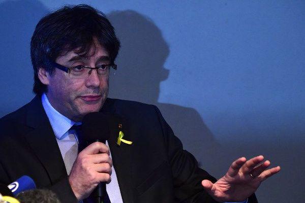 Carles Puigdemont à Berlin le 7 avril 2018.
