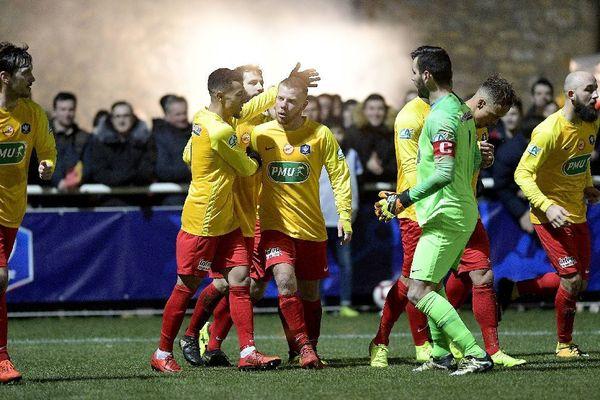 Le premier buteur de Vitré Jordan LEBACLE - L'AS Vitré affronte Le Havre ce jeudi à 18h en 16e de finale de la Coupe de France 24/01/2019