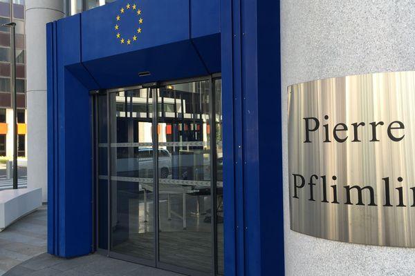 L'entrée du bâtiment Pierre Pflimlin
