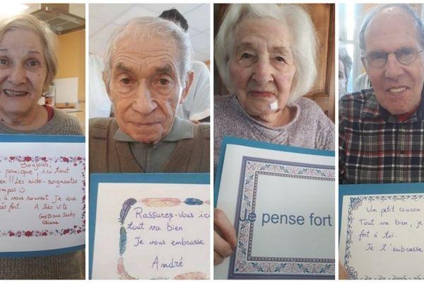 Les messages des résidents de l'EHPAD Théodore Arnault Mirebeau (Vienne)