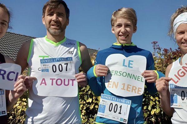 """""""La Confinée"""" est une course caritative de 3 km avec en bonus un message de soutien sur les réseaux sociaux"""