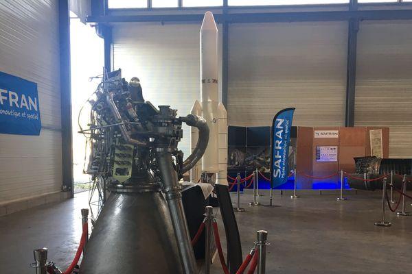 Le moteur de la fusée Ariane 5 pèse 155 kilos