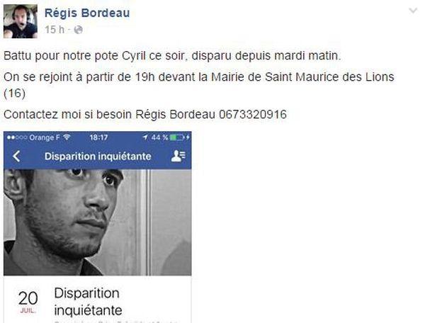 La page Facebook de Régis Bordeau