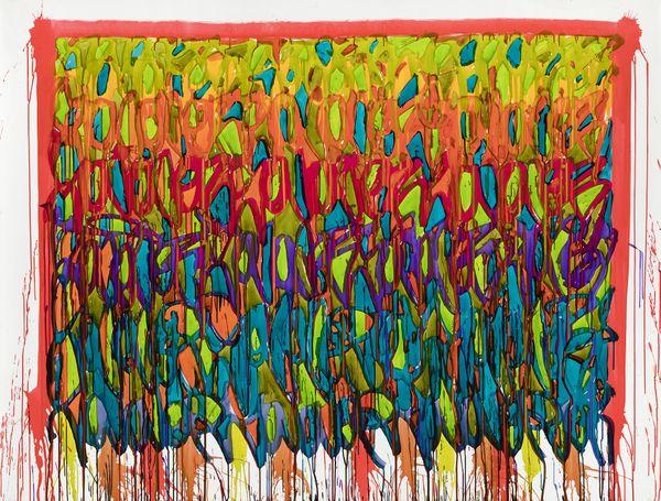 Down Under - Encre sur toile - 205 x 156