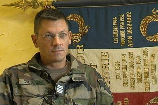 Colonel Cyrille Becker, Commandant du 13e BCA