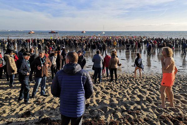 À Fouesnant, le traditionnel bain d'hiver a lieu le 29 décembre