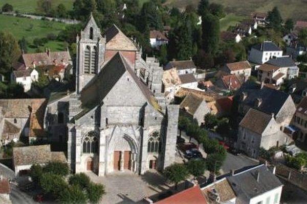 L'eglise de Saint-Sulpice-de-Flavières dans l'Essonne