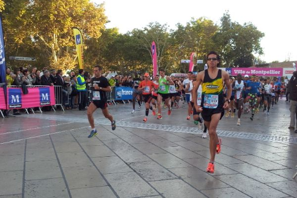Montpellier : départ du Marathon - 14 octobre 2012.