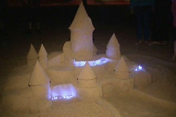 Un château de sable sur la plage de Bray-Dunes, ce mercredi soir.