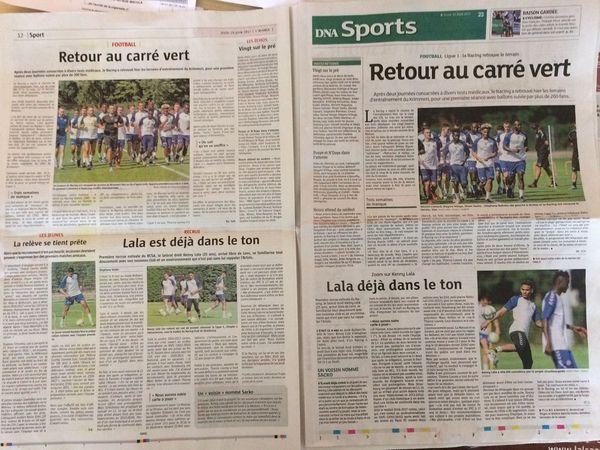 """Les pages """"Sports"""" de L'Alsace et des DNA"""