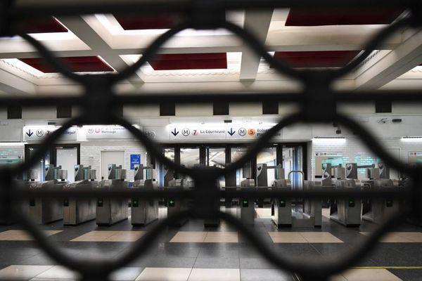 A la RATP, dix lignes de métro resteront fermées jeudi (image d'illustration)