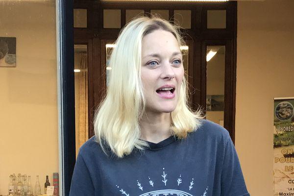 Très engagée l'actrice est l'invitée du Climate Bootcamp à La Bourboule dans le Puy-de-Dôme.