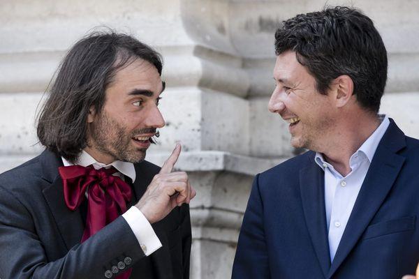 Cédric Villani et Benjamin Griveaux, en juin 2017.