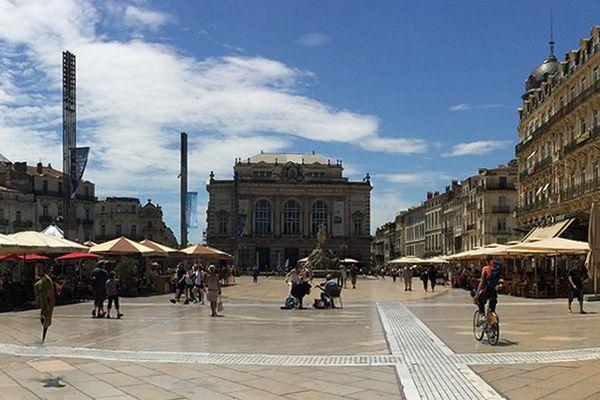 Place de la Comédie à Montpellier - archives