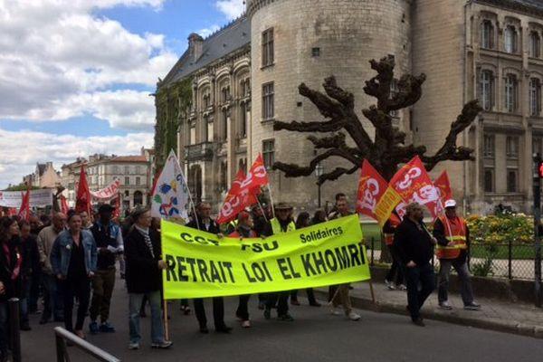 Manifestation à Angoulême contre la loi travail.