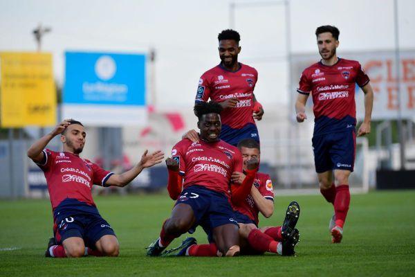 Mohamed Bayo a ouvert le score pour le Clermont Foot face à Sochaux samedi 8 mai au stade Gabriel-Montpied de Clermont-Ferrand.