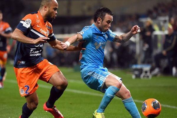 Mathieu Valbuena lors du match contre Montpellier, le 11 avril.