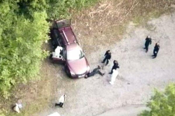Chevaline, vue aérienne de la scène de crime