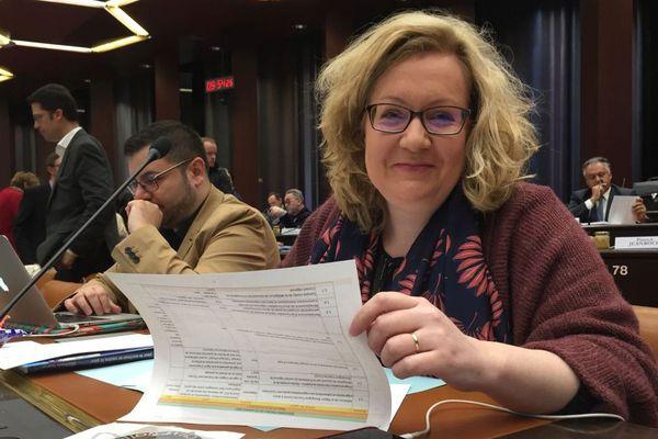 Sophie Montel au conseil régional de Bourgogne-Franche-Comté le 13 octobre 2017.