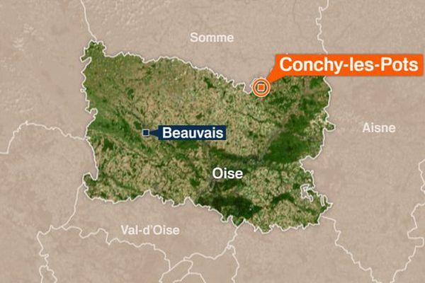 L'accident est survenu au niveau de cette commune du nord de l'Oise.