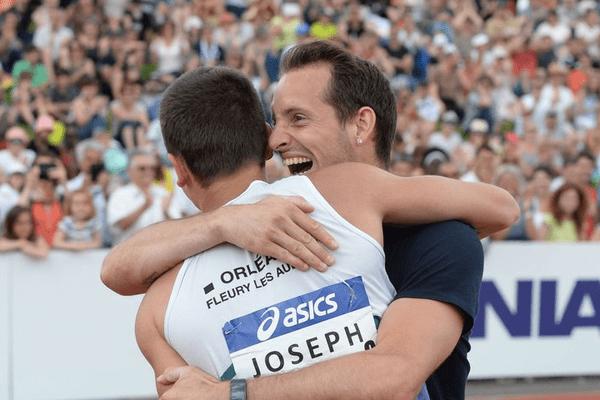 Stanley Joseph et Renaud Lavillenie, champion olympique en titre de saut à la perche