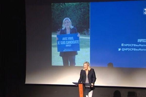 Marine Le Pen à Arras ce mardi matin