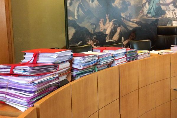 Le tribunal correctionnel d'Angoulême à l'occasion d'un procès pour trafic de drogues, le 4 avril 2017.